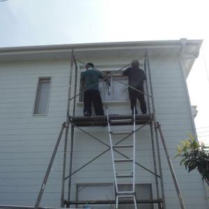 窓の防災対策 ~  西側の1階、2階窓