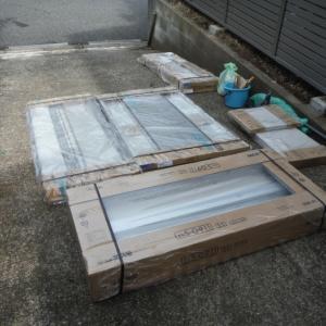 フェンス、カーポート、物置 ~ 物置設置で工事終了です。