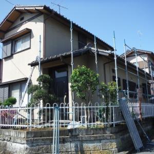 屋根、外壁塗り替えとメンテナンス ~ 足場組みと塗装工事前準備。