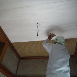 玄関の内装工事 ~ 母屋の玄関工事。