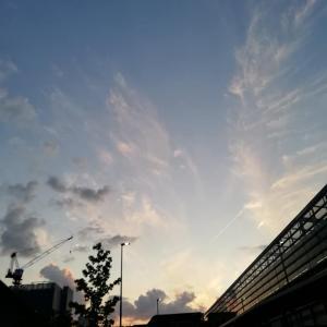 雲の写真と 光