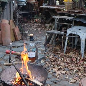 焚き火はにはウイスキーが♪♪