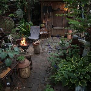 ゆったり♪まったり♪庭で焚き火♪