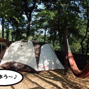 カリノちゃん、スイートグラスキャンプ場へ♪~最終日、テント撤収編~
