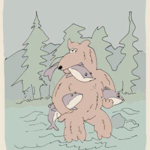 A greedy bear