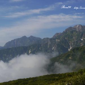 鹿島槍ヶ岳と五竜岳を望む
