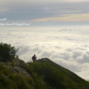 雲海を眺めながら