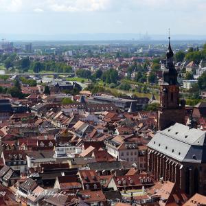 赤い屋根の街並み ハイデルベルグ