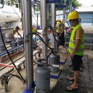 家庭用ガススタンドがヤンゴン市内4個所開設