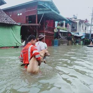 ミャンマー南部の洪水被害が拡大