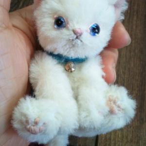 【オーダー作品紹介】お家の白猫ちゃん