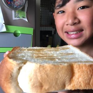 厚切りパンおかわり+お餅...