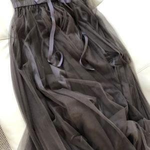 チュールスカート♡