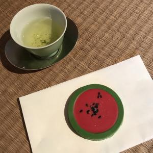 8月のお稽古より〜西瓜と団扇〜