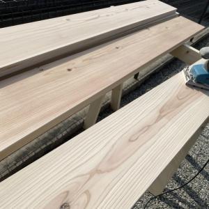 弦乃月 月一行脚 小ネタはDIYでBBQ用テーブルを作成!  滋賀県