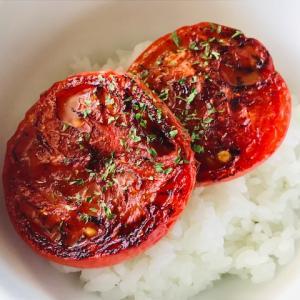 【超簡単】 焼きトマト丼