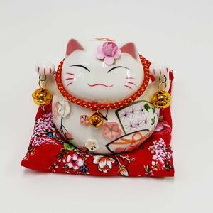 今日は猫の日♪【商売繁盛】招き猫 貯金箱 置物 かわいいまねき猫 置物