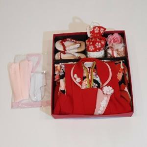 箱付き【式部浪漫】七五三 3歳 被布・着物フルセット・着付け小物も付いて届いたらすぐ着れる♪