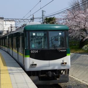 平成最後の桜と京阪電車・パート2(H31.04.07日曜日)