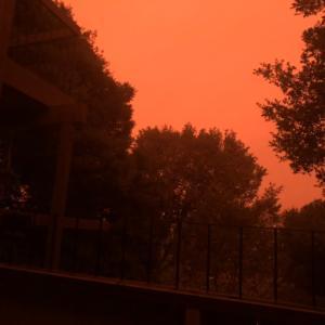 真っ赤な朝