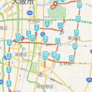 本日は大阪マラソン新コース後半を試走しました(スマホ自宅に忘れる) 2019.11.10