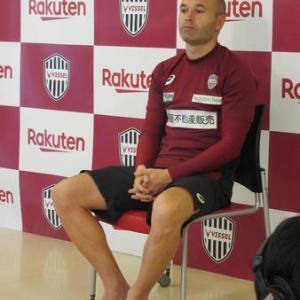 神戸イニエスタ(35)右足親指骨折「アンラッキーだった」23試合 6得点(3PK) 3アシスト