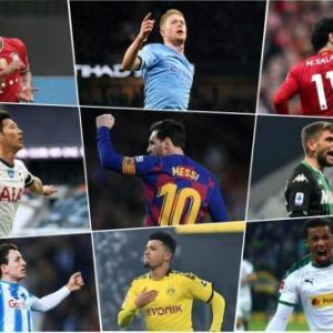 今季の欧州4大リーグで「2桁得点2桁アシスト」を達成した選手たち