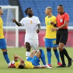 【サッカー五輪】ブラジルとコートジボワールは痛み分け…両軍に退場者、スコアレスドローで決着