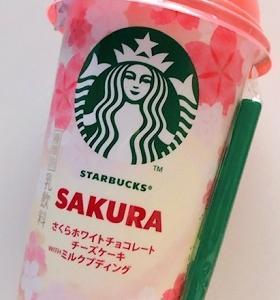 【スタバ】さくらホワイトチョコレートチーズケーキ WITH ミルクプディング
