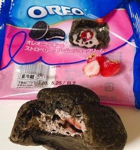オレオクッキー&ストロベリークリームのシュークリーム