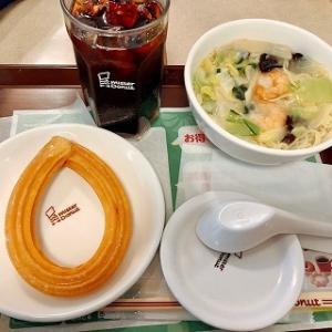 ミスドで飲茶ランチ♪海老野菜そばとハニーチュロを食べました♪
