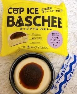 「バスチー」の味わいをアイスで再現した「カップアイスバスチー」