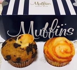 チーズマフィンとティラミスマフィン(マフィンズ/Muffins )