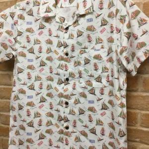 総柄オープンカラーS/Sシャツ(日本製)