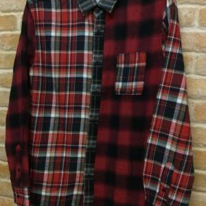 クレイジーチェックネルシャツ(RD)
