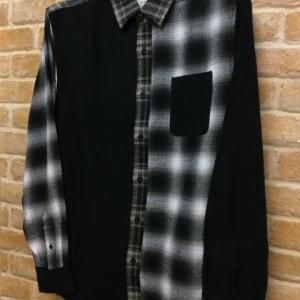 クレイジーチェックネルシャツ(BK)