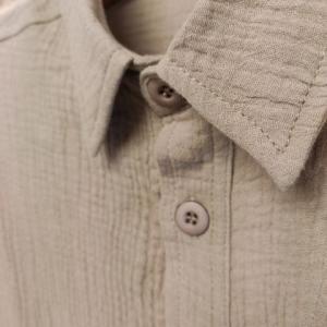 ダブルガーゼルーズフィットレギュラーカラーシャツ(BE)