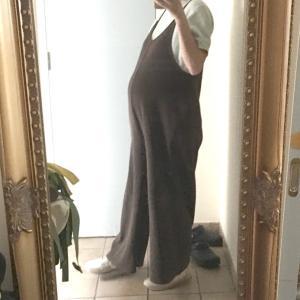 【1歳6ヵ月×妊娠9ヵ月】冷えとりマタニティファッション