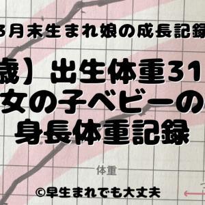 【0歳】出生体重3178g 女の子ベビーの身長体重記録
