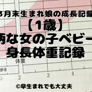 【1歳完結編】小柄な女の子ベビーの身長体重記録【3月末生まれ長女】