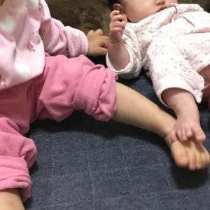 【生後4ヶ月】予防接種3回め ヒブワクチンやっと/2歳のお人形遊び