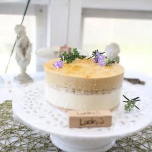 洋ナシのムースとカラメルのムースケーキのレッスン