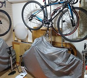 自転車部屋の整理