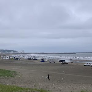 地震!&海辺の休日〜残念!