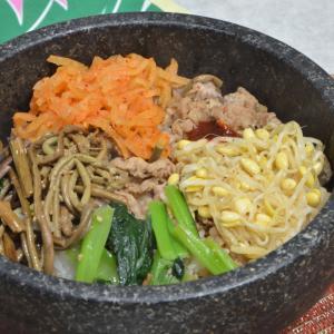 石焼ビビンバ&野菜スープ