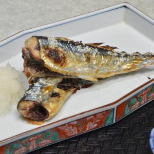 秋の食卓〜秋刀魚の塩焼き