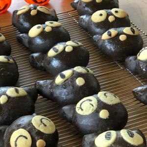 [hug豊洲パン教室]ハロウィン黒猫パン♪