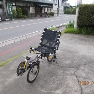【雨が止んだのですかさず】何とか自転車乗れました。