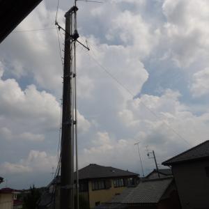 【外出してたら降られてました】いきなり雲が発達しますからね。