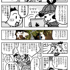 「名犬探偵赤目の真相にせまるの巻」漫画フレンチブルドック